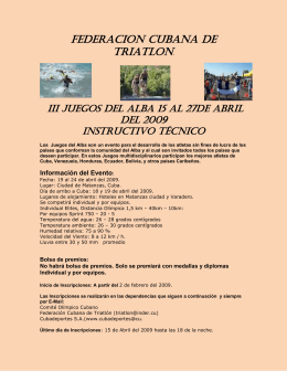 Triatlon - III Juegos Deportivos del ALBA