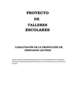 PROYECTO ESCOLARES  DE