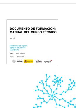 DOCUMENTO DE FORMACIÓN: MANUAL DEL CURSO TÉCNICO Plataforma de objetos