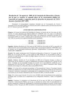 Resolución concesión 2º plazo - Asturias
