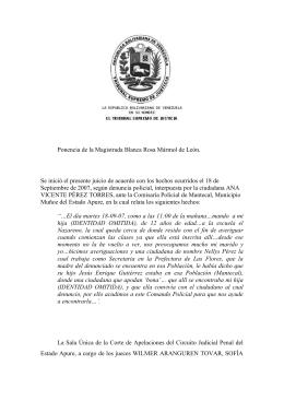 decisión - TSJ - Tribunal Supremo de Justicia