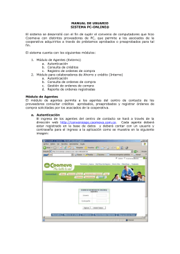 MANUAL DE USUARIO SISTEMA PC-ONLINE@