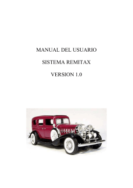 MANUAL DEL USUARIO SISTEMA REMITAX VERSION 1.0