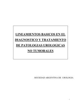 Lineamientos básicos en el diagnóstico y tratamiento de la