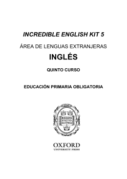 Incredible English Kit 3ed 5 Programación LOMCE castellano MECD