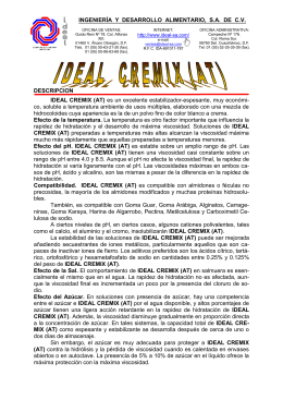 Aplicaciones de IDEAL CREMIX (AT) en Alimentos - ideal