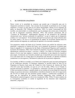 INTEGRACIÓN ECONÓMICA, DESARROLLO