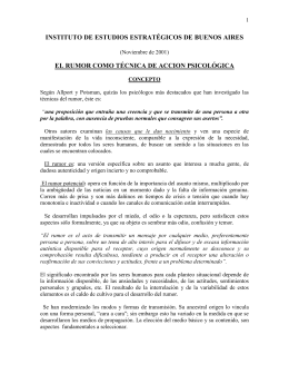 """""""El Rumor como Técnica de Acción Psicológica""""."""