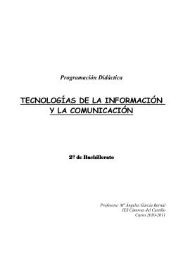 Programación Didáctica - IES Cánovas del Castillo