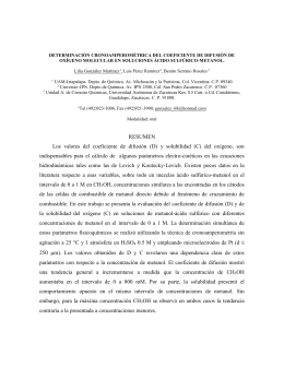 DETERMINACIÓN CRONOAMPEROMÉTRICA DEL COEFICIENTE