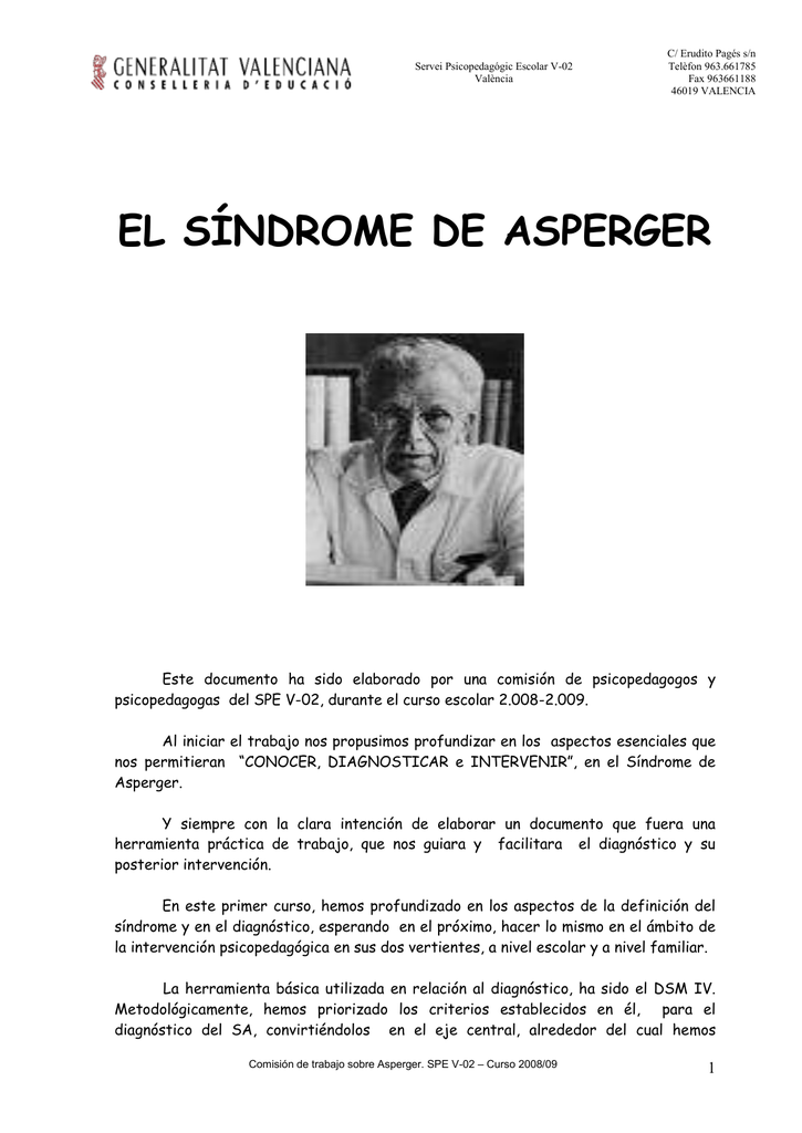 Sindrome de asperger diagnostico