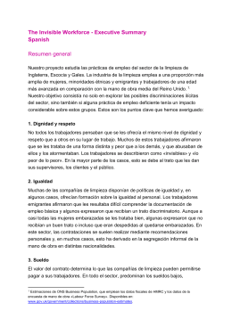 The Invisible Workforce - Executive Summary Spanish Resumen