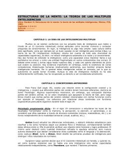 ESTRUCTURAS DE LA MENTE: LA TEORIA DE LAS MULTIPLES