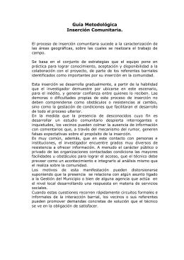 Guía Metodológica Inserción Comunitaria.