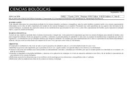 CIENCIAS BIOLÓGICAS  Septiembre 2011 EDUCACIÓN