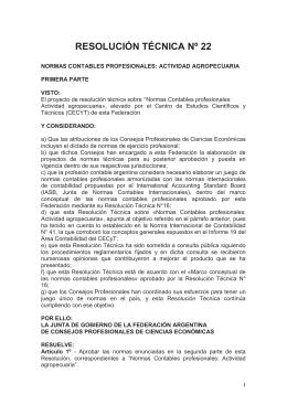 Resolución Técnica Nº 22 - Consejo Profesional de Ciencias