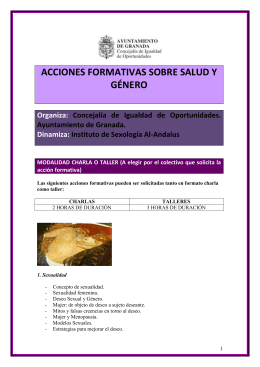 TALLERES MUJERES SALUD