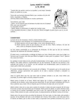 MARTA Y MARÍA (Lc 10, 38–42)