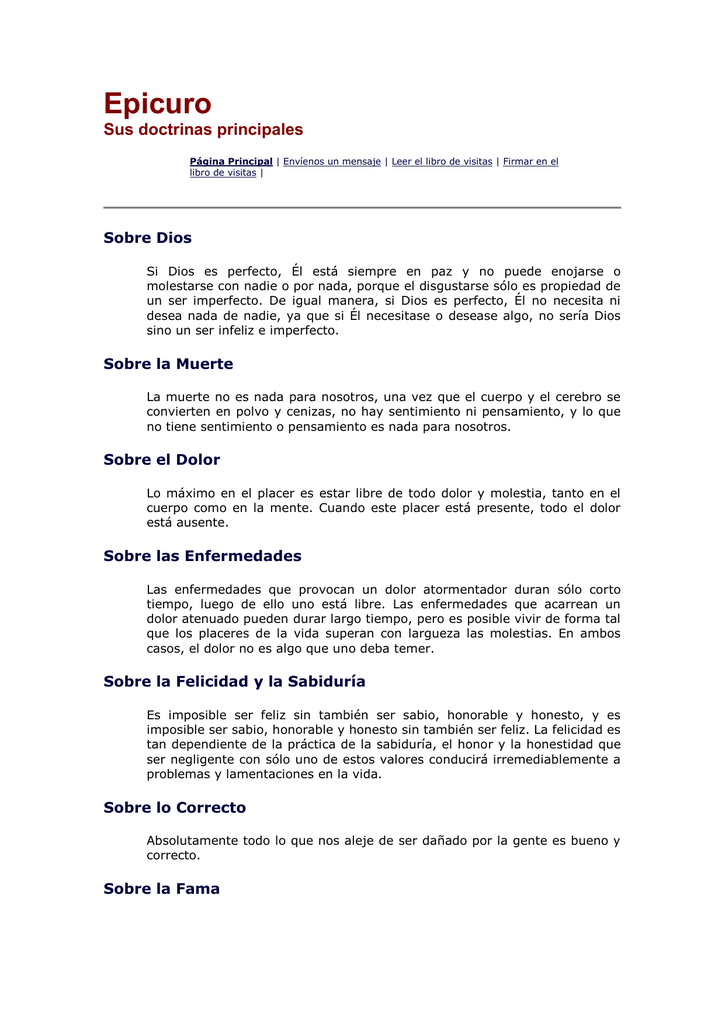 Frases Celebres De Epicuro