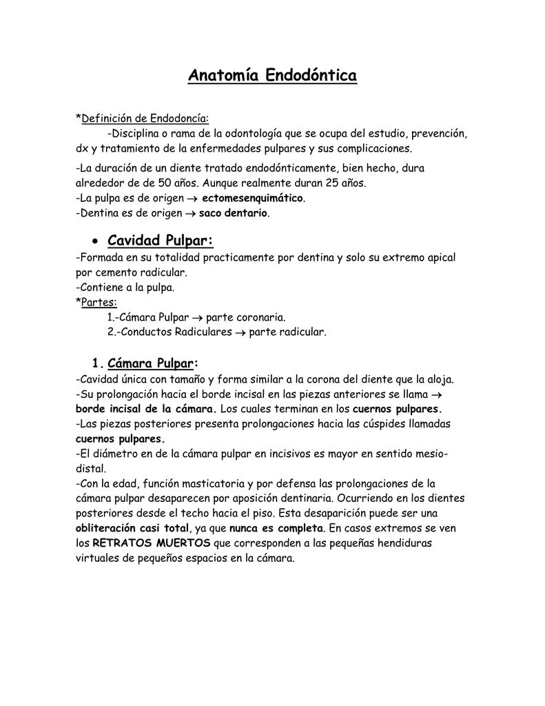 Anatomía Endodóntica