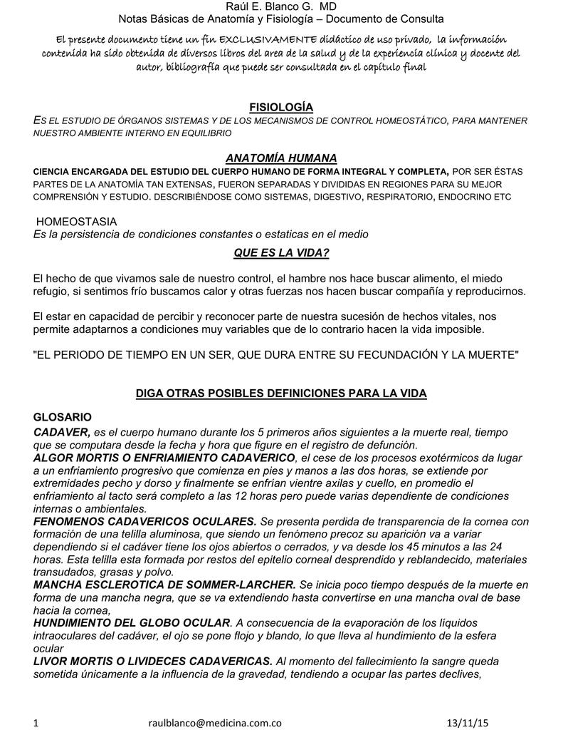 NOTAS BASICAS DE ANATOMIA