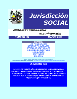 Revista de Jurisdicción Social número 142 del mes de Marzo