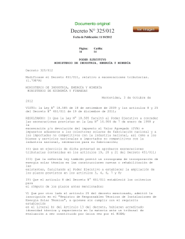 Decreto N° 325/012 Documento original