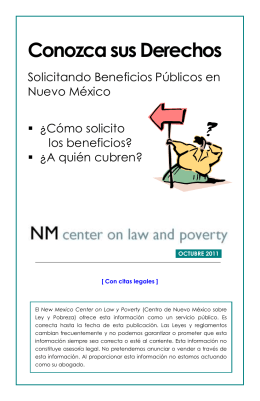 Conozca sus Derechos - New Mexico Center on Law and Poverty