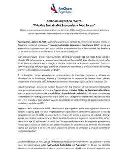 "AmCham Argentina realizó ""Thinking Sustainable Economies – Food forum"""