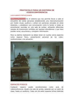 PROTOCOLO SISTEMA DE VIDEOCONFERENCIA