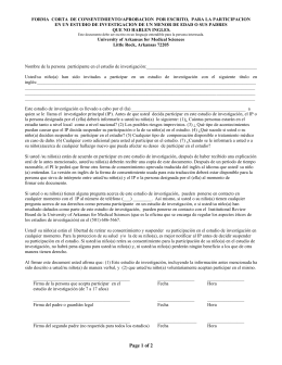 short written consent form to participate in a research study