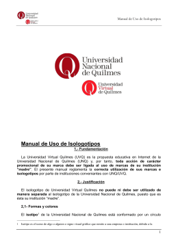 Manual de usos de Isologotipos - Universidad Virtual de Quilmes