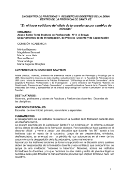 Invitación y Ficha de inscripción - Instituto Superior de Profesorado