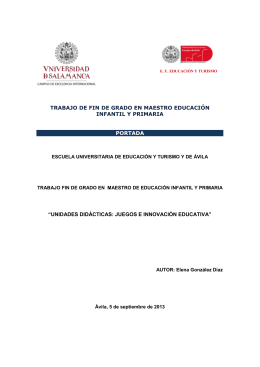 trabajo de fin de grado en maestro educación infantil y primaria