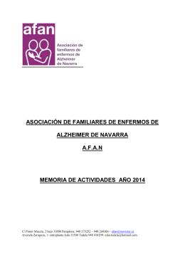 ASOCIACIÓN DE FAMILIARES DE ENFERMOS DE - AFAN