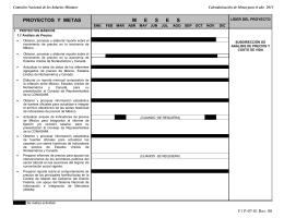 Calendario Análisis de Precios - Comisión Nacional de los Salarios