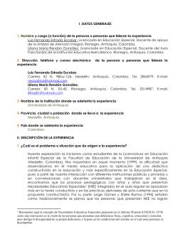 CUESTIONARIO PARA EL BALANCE Y PROYECCIÓN