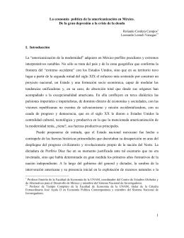 México y su economía política de la americanización