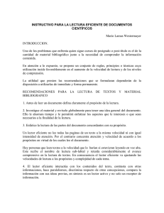 instructivo para la lectura efi ciente de documentos - U