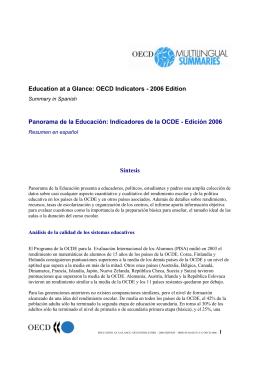 Education at a Glance: OECD Indicators - 2006 Edition Síntesis