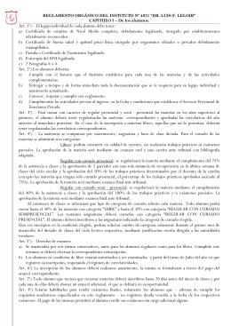 reglamento alumnos terciario 2013