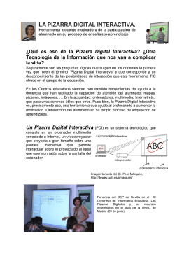 LA PIZARRA DIGITAL INTERACTIVA,