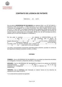 Fecha - OTRI - Universidad de Salamanca