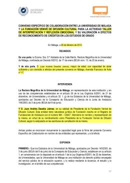 modelo convenio - Universidad de Málaga