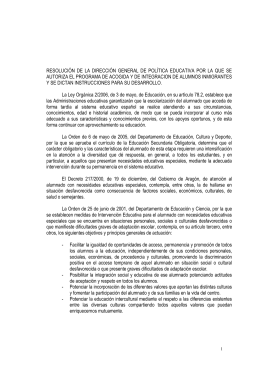 Resolución de la Dirección General de Política Educativa