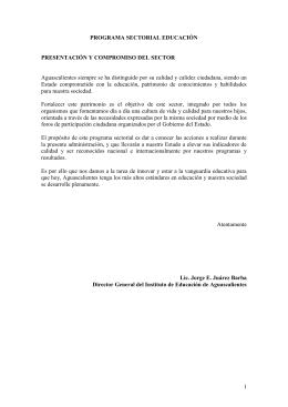 SECTOR EDUCACIÓN - Gobierno de Aguascalientes