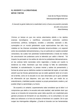 ENSAYO 3 EL DOCENTE Y LA CREATIVIDAD