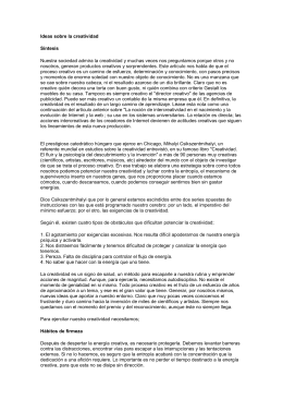 "Documento ""Ideas sobre la creatividad"""
