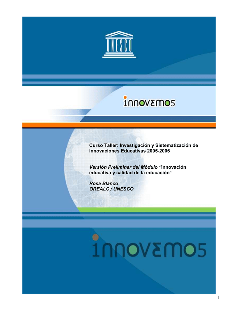 Versión Preliminar Módulo Innovación Educativa