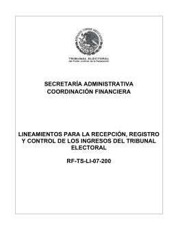 secretaría administrativa - Tribunal Electoral del Poder Judicial de la